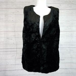 Lysse Mile Vest Sz L/XL Black Faux Fur
